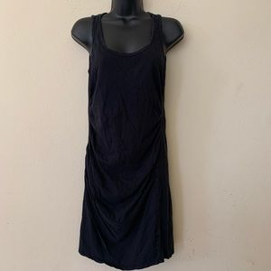 Michael Stars Black Ruched Sleevless Minidress